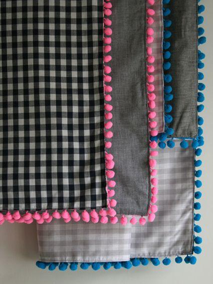 Inspiration: Pom Pom trimmed blankets