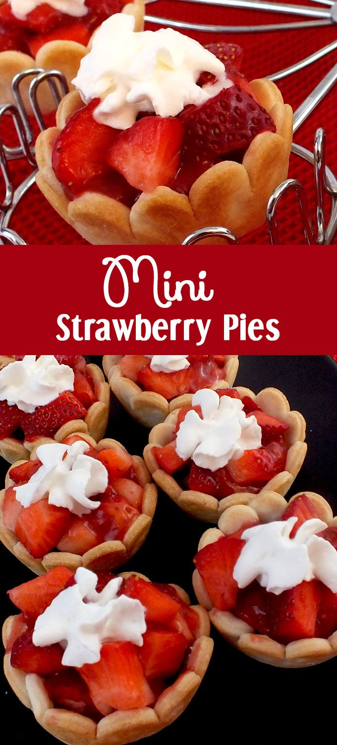 Surprise your guests and family with this unique take on a traditional dessert - Mini Strawberry Pies. Easy to make and so delicious, they would be a great Easter dessert, Sunday Brunch treat or even a Summertime BBQ sweet. Follow us for more great Easter Food ideas.