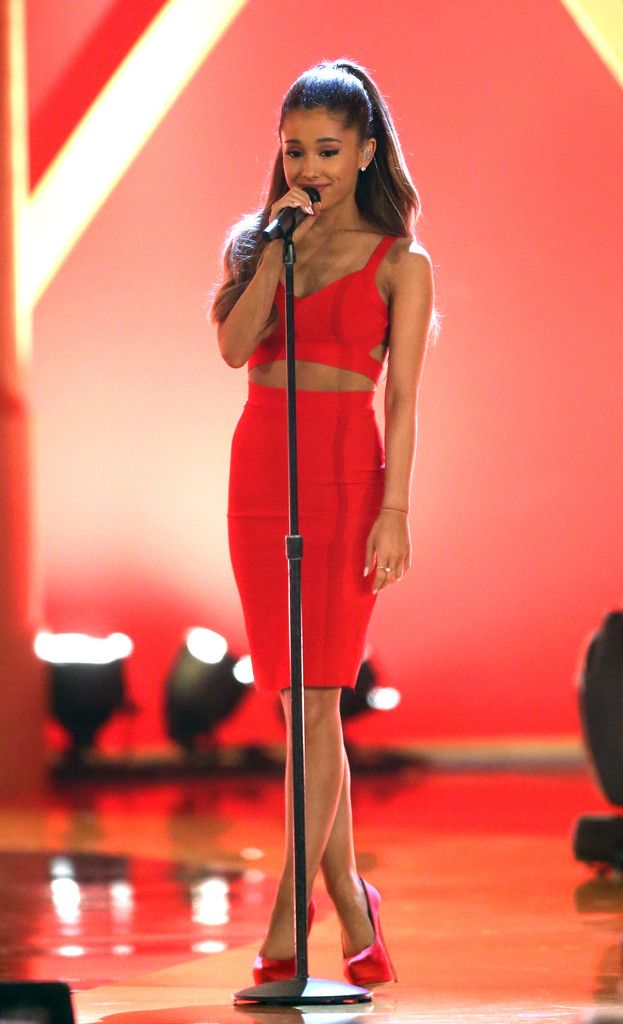 """agrande-news: """"(more) Ariana Grande performing at the Very Grammy Christmas in Los Angeles """""""