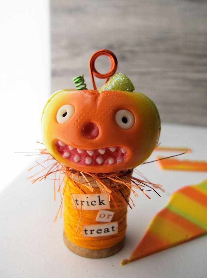 DIY Halloween Place Card Holder Trio