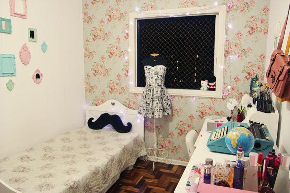 Decoração do antigo quarto da Bruna Vieira do blog Depois dos Quinze.