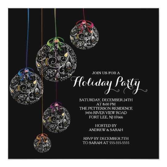 Best Christmas Holiday Party Invitations Images On