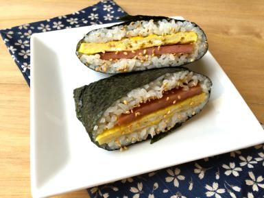 Easy SPAM and Egg Breakfast Onigirazu Rice Ball Sandwich: SPAM and Egg ...