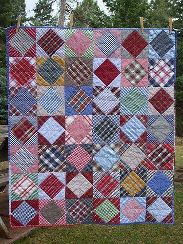 Memory quilt idea - found on Flickr