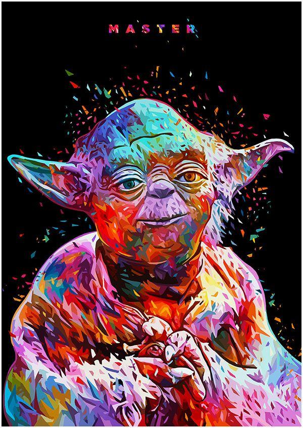MA S T E R - Yoda portrait Print: https://www.curioos.com/product/Print/master Mehr