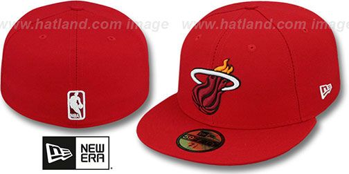 Heat 'NBA-CHASE' Red Fitted Hat by New Era on hatland.com