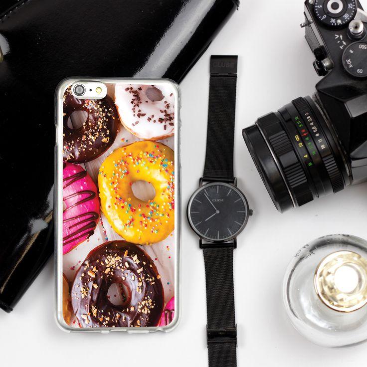 Etui z motywem amerykańskich pączków #donuts http://www.etuo.pl/etui.html