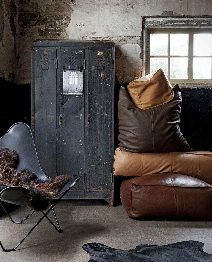 Leder stoer, interieur, vintage,