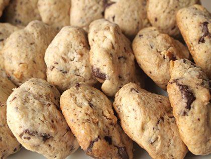 Μπισκότα με σοκολάτα και καρύδια