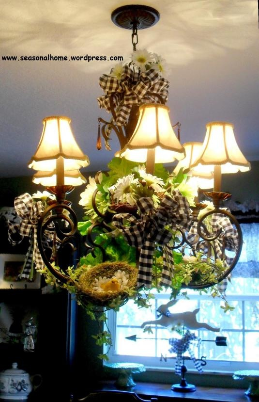love this black and white gingham ribbon and greenery....any season