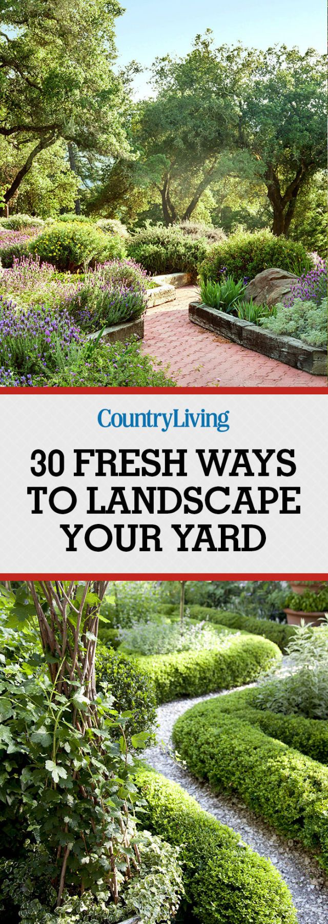 Get inspired! Update your front yard or backyard design with shrubbery, gardens, walkways, and more.