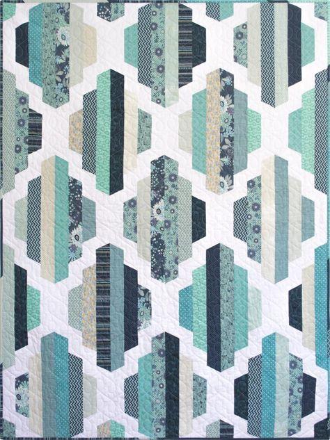 Modern Quilt Pattern, Garden Lattice, 2 sizes | Craftsy