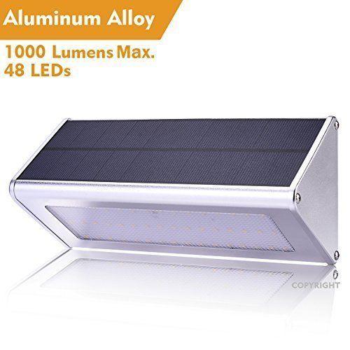 Outdoor Solar LED Lights Motion Sensor Waterproof Aluminum Alloy Super Bright  #WBESEV