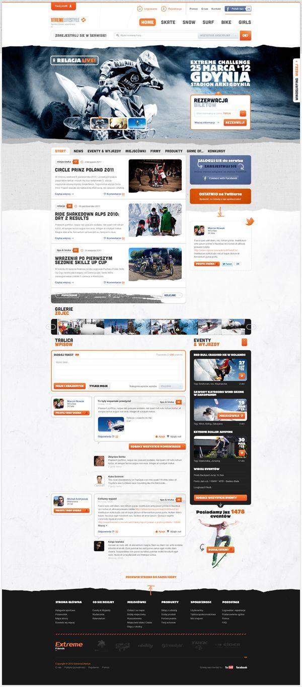 Xtreme Lifestyle | #webdesign #it #web #design #layout #userinterface #website #webdesign < repinned by www.BlickeDeeler.de | Take a look at www.WebsiteDesign-Hamburg.de