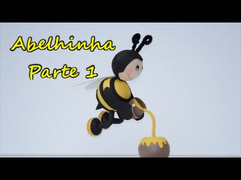 1/2 Fofucha abelhinha voando. Passo a passo...... Feliz 2016 - YouTube
