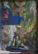 Danny Mooney 'The St Leonard' Oil on Stainless steel panel 51 x 36 cm
