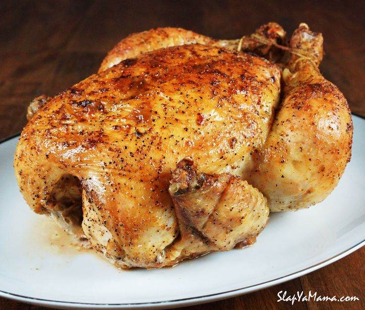 Slap Ya Mama's signature recipe for the perfect whole baked chicken complete with Slap Ya Mama's original seasoning & spices. Roast & Enjoy Real Full Flavor