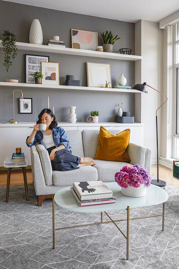 Ceni Fresh White Loveseat Couches Living Room Shelf Decor Living Room Living Room Shelves #white #living #room #shelf