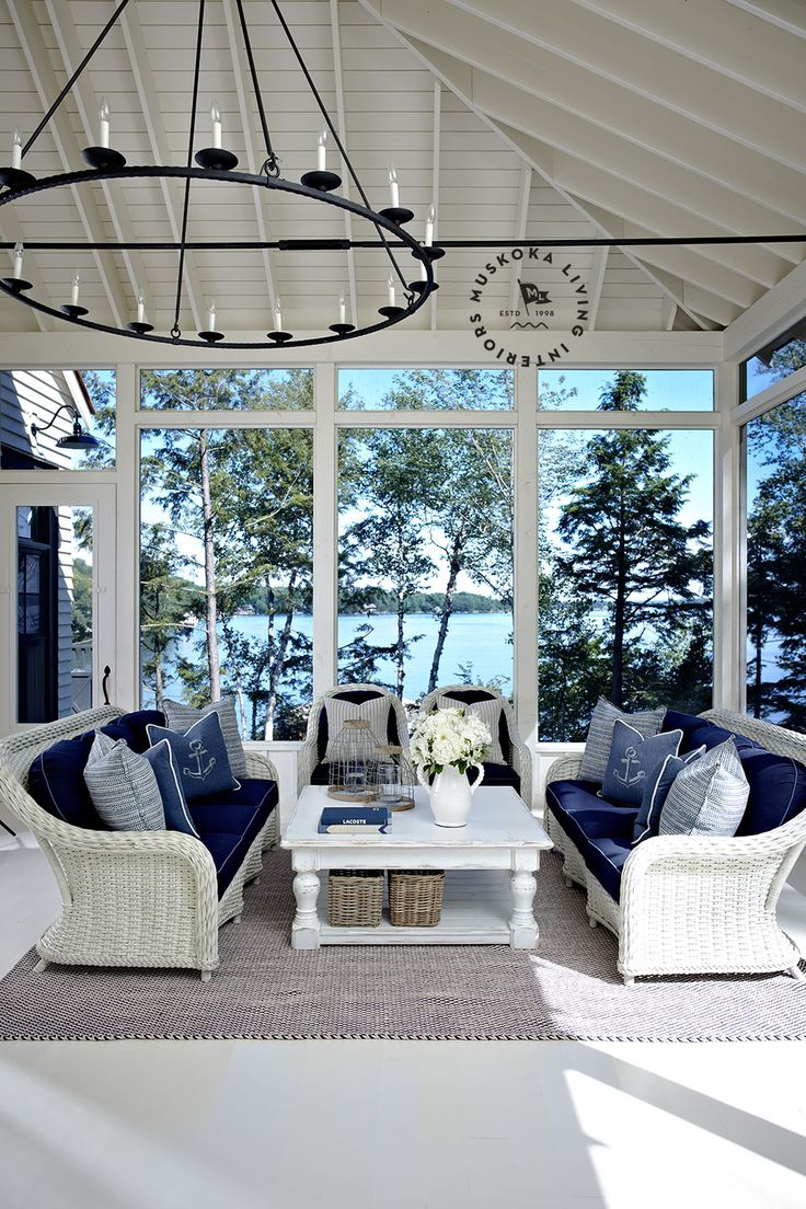 Outdoor Living on the porch - Lakeside - Muskoka Living |ML - Tradewinds - 3