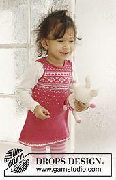 "Ravelry: b21-17 ""Princess Dream"" Dress in ""Baby Merino"" pattern by DROPS design"