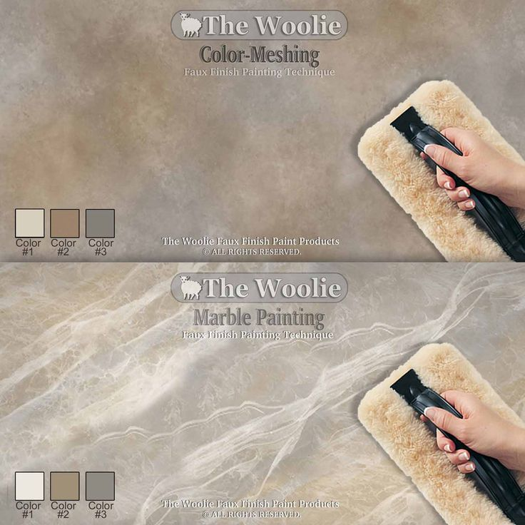 The Woolie OFFICIAL Faux Finish Paint Tool - 100% Sheepskin Pad