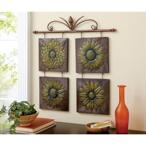 Vintage Sunflower Wall Decor : Antique sunflower d metal wall decor old country store