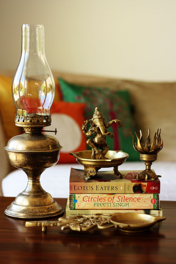 Dancing Ganesha and brass antique lamp Copyright of http://monsoonspice.com