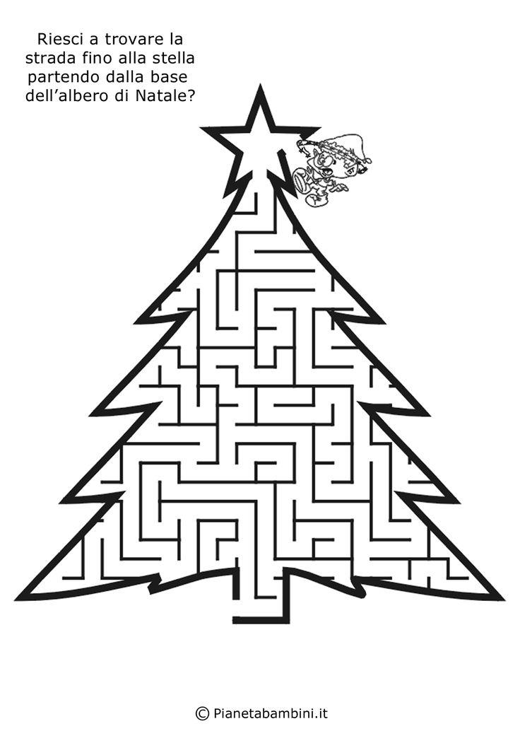 Qui trovate tanti labirinti dedicati al Natale da risolvere e colorare per bambini dai 6 ai 10 anni, pronti da stampare gratis in PDF o singolarmente