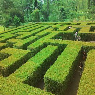 Labirin Garden in Malang, East Java, Indonesia