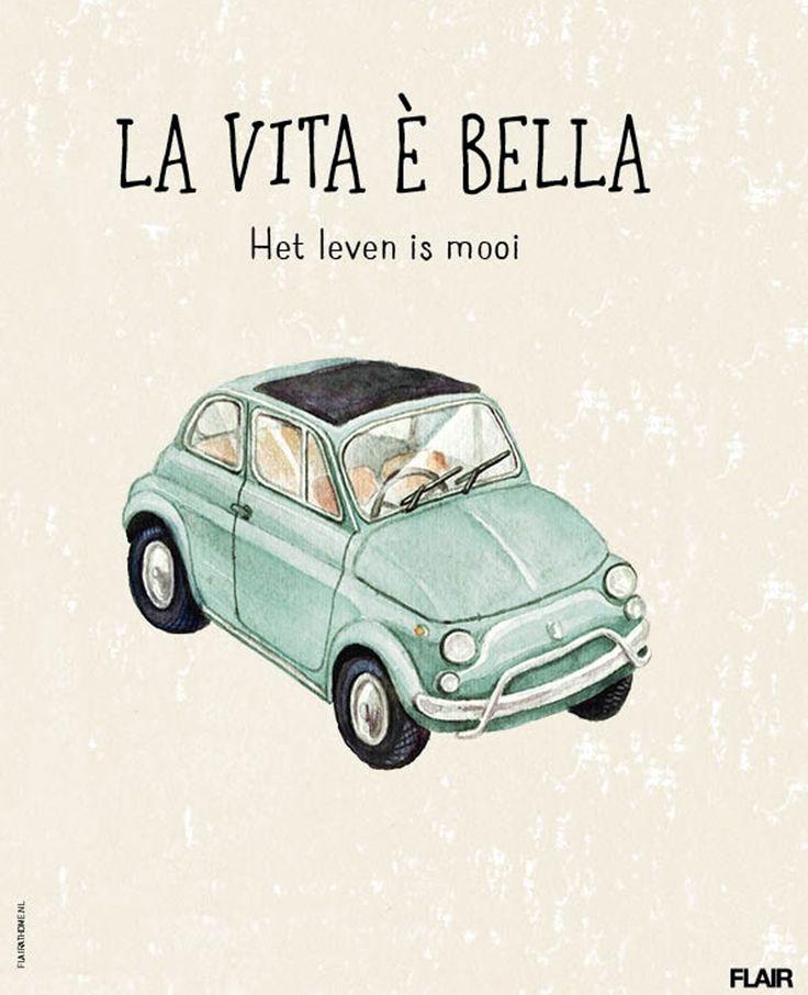 La vita è bella, het leven is mooi   Flair 42 (2015)   #FlairNL #FlairQuote Flairathome.nl
