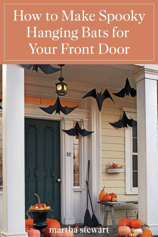 Hanging Bats Halloween Front Door Decorations Halloween Living Room Halloween Outdoor Decorations