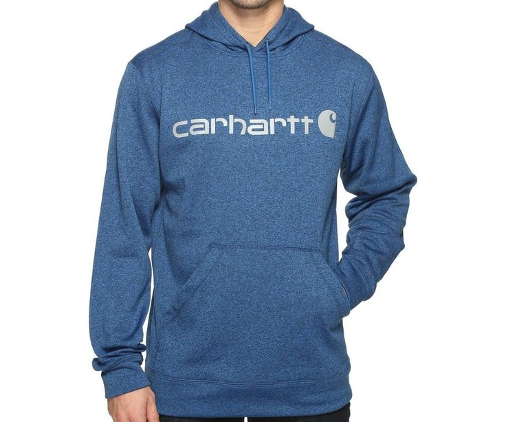 Men's Carhartt Sweatshirt Force Extremes Signature Graphic Hooded Heather Huron  #Carhartt #Hoodie