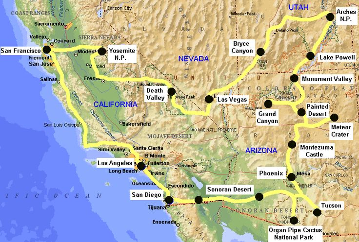 Interested In Hitting All Of The National Parks In The Lower - Map us west