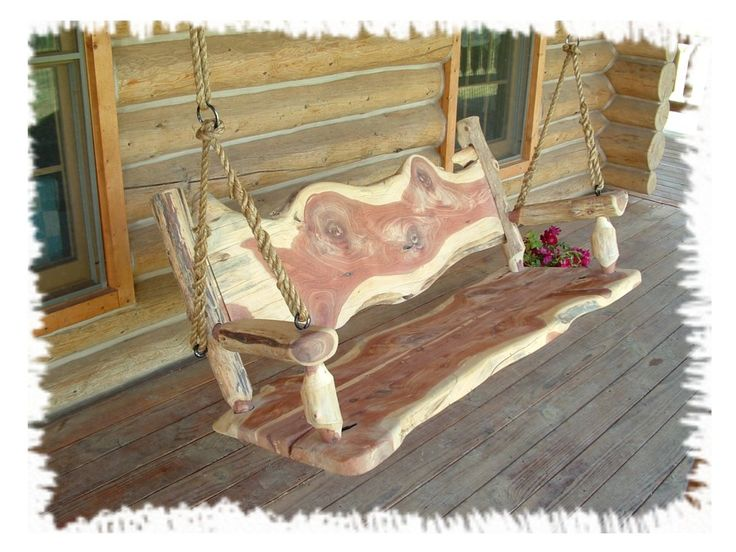 Log Swings | ... Pictured Log Swing Is 5 Feet Long. We Can. Log Cabin  FurnitureOutdoor ...