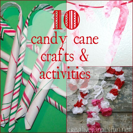10 Candy Cane Crafts & Activities ~ Creative Family Fun | See