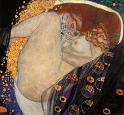 Dánae, madre de Perseo, Gustav Klimt