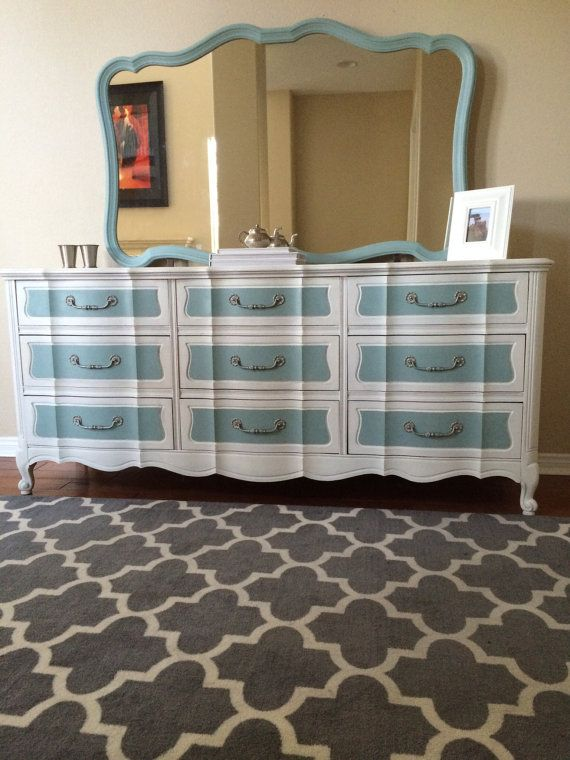 French Provincial Vintage Dresser hand painted by SMistryCreations, $800.00
