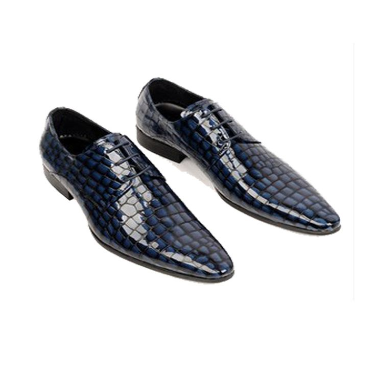 Santimon-Men's Genuine Leather Handsewn Lace-up Business Oxford Shoes