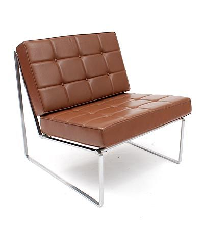 Found on www.botterweg.com - Fauteuil serie 024 metal frame with black painted wooden slats with leatherette-covered cushions design Kho Liang Le 1962 executed by Artifort / the Netherlands
