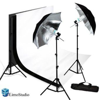 how to set up photography lights with umbrellas