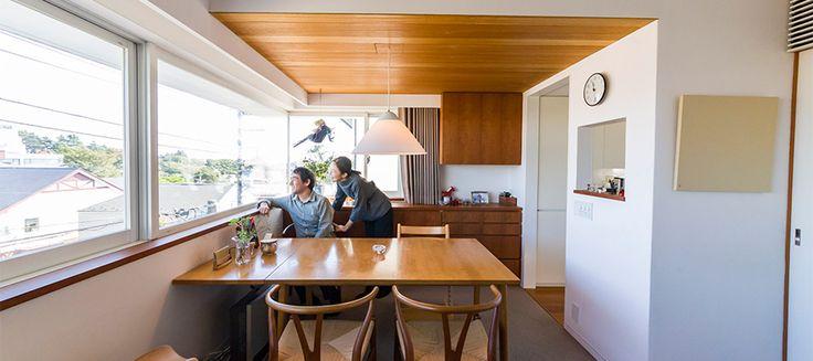 地域に溶け込む建築家の自邸光と風と緑を感じて暮らす街にも自分にも心地よい空間