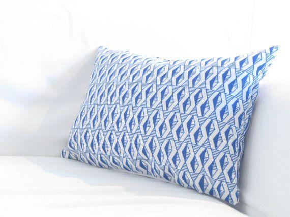 """Lumbars, Blue Lumbars, Outdoor Pillows, Blue Indoor Outdoor Lumbar,Kid Friendly Pillows, Lumbar Pillows,12""""x18"""" in decorative pillow"""