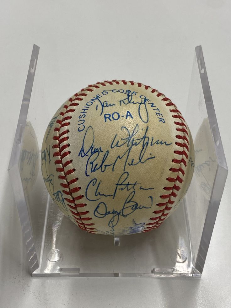 Detroit Tigers 1985 Team Signed Baseball 2k Apr Value W Coa In 2021 Detroit Tigers Sparky Anderson Baseball