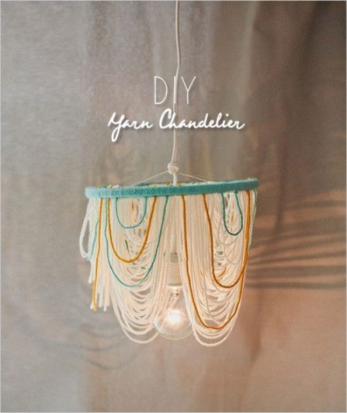 Creative And Cozy DIY Yarn Chandelier For Your Wedding - Weddingomania
