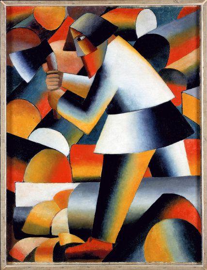"""Kazimir Malevich. """"The Woodcutter"""", 1912."""