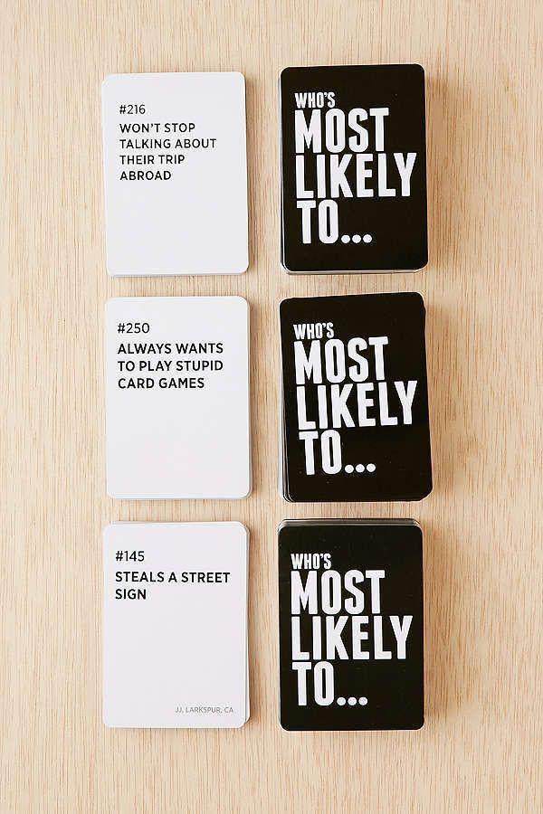 Who S Most Likely To Game Trinkspiel Party Geburtstagsparty Spiele Und Geburtstagsspiele