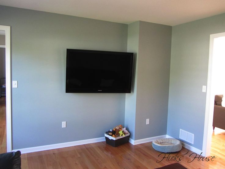 Benjamin Moore Silver Mink In Tv Room Hicks House Diys