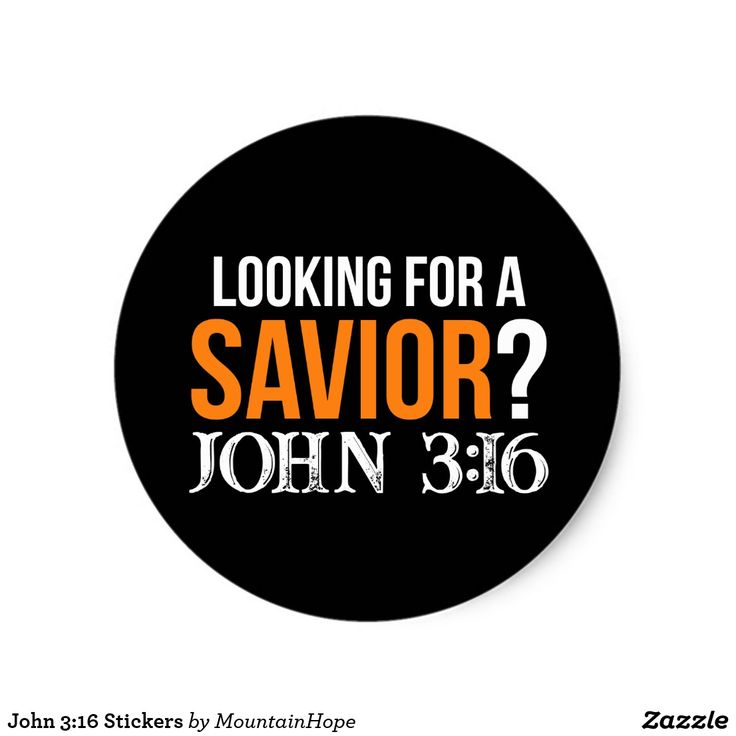 John 3:16 Stickers