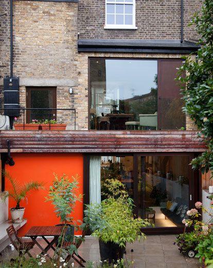 Orange outdoors - Orla Kiely's home