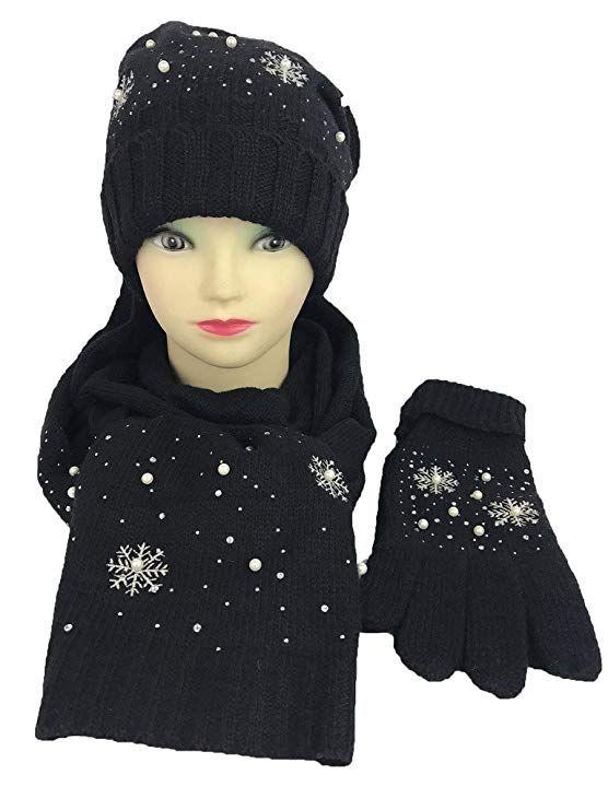 e083f5166eaae SNOWFLAKE Series Wool blended Gift Sets Hat